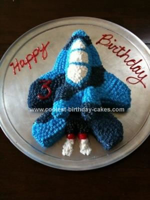 Homemade Fighter Jet Birthday Cake