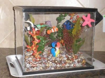 Homemade Finding Nemo Aquarium Cake