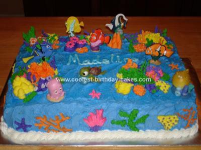 Fantastic Cute Homemade Finding Nemo Scene Birthday Cake Funny Birthday Cards Online Drosicarndamsfinfo