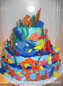 Homemade Finding Nemo Birthday Cake