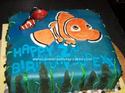 Homemade Finding Nemo Cake