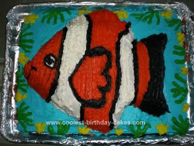 Easy Finding Nemo Cake