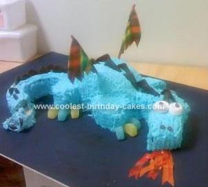 Homemade Fire Breathing Dragon Cake