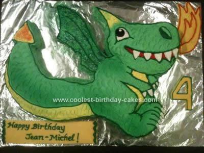 Homemade Fire Breathing Dragon Cake Design