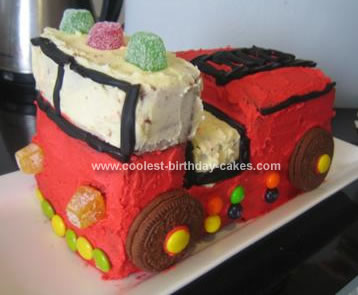 Homemade Fire Engine Cake