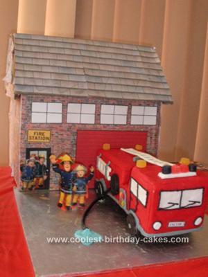 Homemade Fire Engine Cake