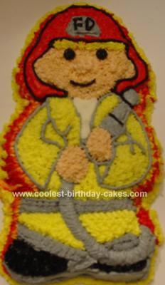 Homemade Fire Fighter Cake