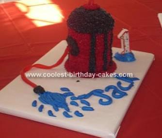 Fire Hydrant Cake