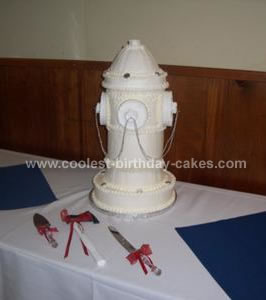 Homemade Fire Hydrant Wedding Cake