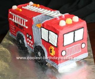 3 D Fire Truck Cake