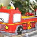 Homemade Fire Truck Cake Design