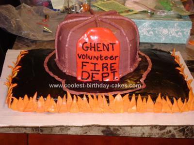 Homemade Firefighter Cake