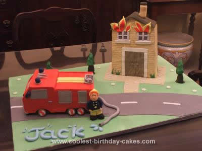Homemade Fireman Sam Cake