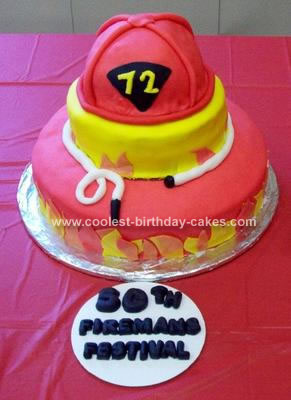 Homemade Fireman's Cake