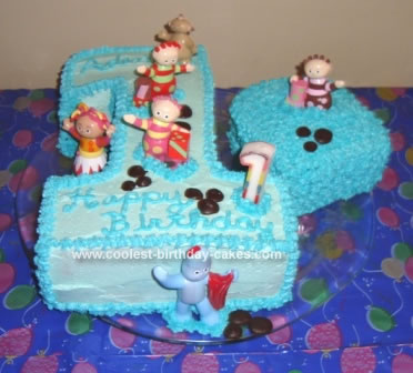 Stupendous Cool Homemade In The Night Garden Themed First Birthday Cake Funny Birthday Cards Online Overcheapnameinfo