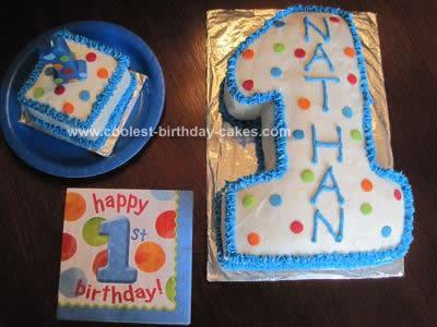 Homemade First Birthday Cake and Smash Cake