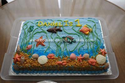 Stupendous Coolest First Birthday Ocean Cake Funny Birthday Cards Online Aeocydamsfinfo