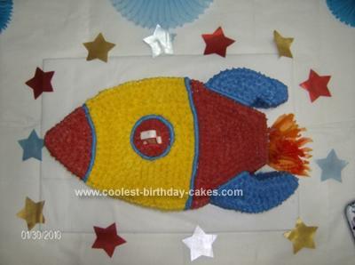 Homemade  First Birthday Rocket Cake