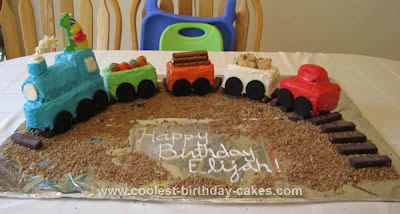 Awe Inspiring Coolest First Birthday Train Cake Funny Birthday Cards Online Inifodamsfinfo