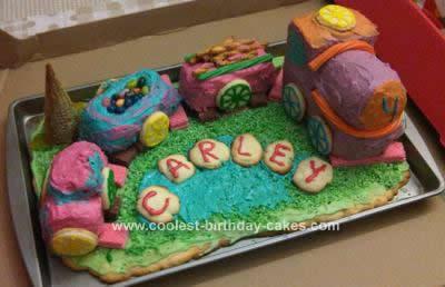Amazing Coolest First Try Dinosaur Theme Train Birthday Cake Personalised Birthday Cards Veneteletsinfo