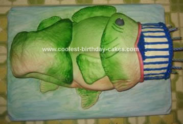 Homemade Bass Fish Birthday Cake