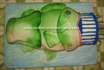 Homemade Bass Fish Birthday Cake