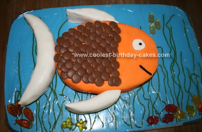Pleasant Cool Homemade Swimming Fish Birthday Cake Funny Birthday Cards Online Chimdamsfinfo