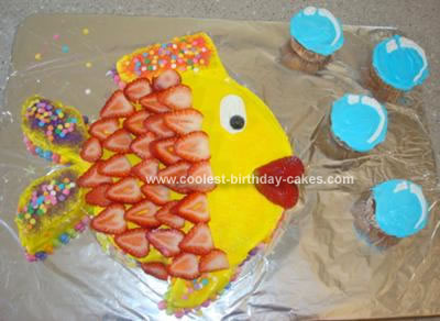 Homemade Fish And Bubbles Cake