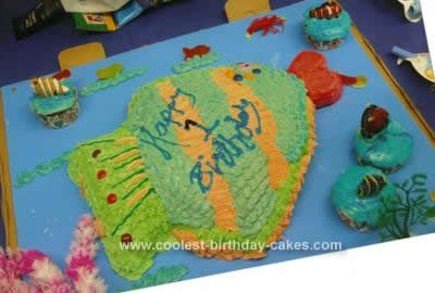 Homemade Fish Birthday Cake Idea