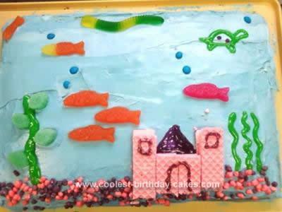 Homemade Fish Tank Birthday Cake