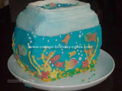Homemade Fishbowl Birthday Cake Idea