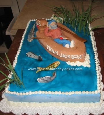 Coolest Homemade Fishing Birthday Cake For My Husband S 65th