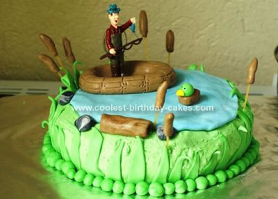 Homemade Fishing Birthday Cake