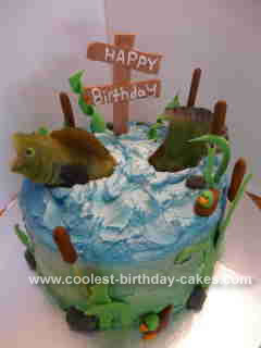 Homemade Fishing Birthday Cake