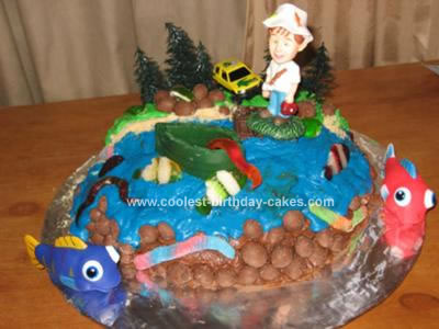Prime Cute Homemade Fishing Birthday Cake Personalised Birthday Cards Epsylily Jamesorg