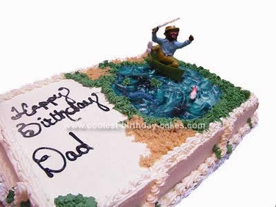 Homemade Fishing Birthday Cake Idea