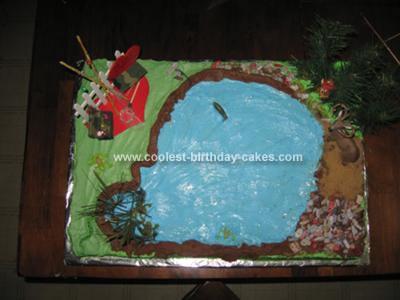 Homemade Fishing Cake