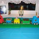Homemade Five Car Train Birthday Cake
