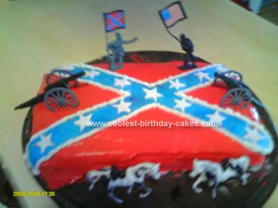 Homemade Flag Birthday Cake