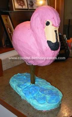 Homemade Flamingo Cake