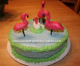 Homemade Flamingo Cake