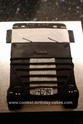 Homemade Flat Nose Truck Cake