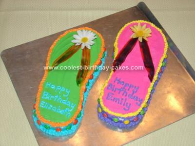 Stupendous Coolest Flip Flop Birthday Cake Idea Birthday Cards Printable Inklcafe Filternl