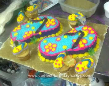 d85d3786dca337 Coolest Homemade Flip Flops and Sandals Cakes