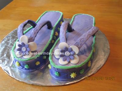 Homemade Flip Flops Cake