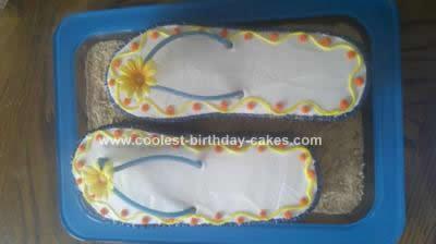 Homemade Flip-Flop Cake