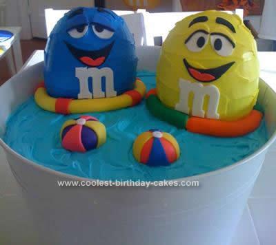 Homemade Floating M & M's Birthday Cake