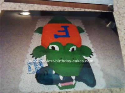 Admirable Coolest Florida Gator Birthday Cake Personalised Birthday Cards Veneteletsinfo