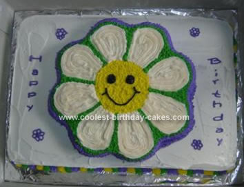 Homemade Flower Birthday Cake