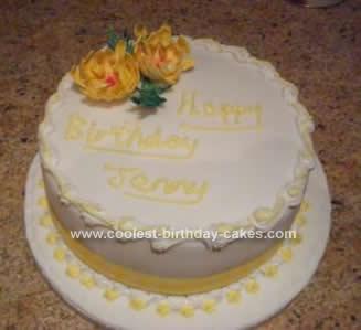 Homemade Flower Cake